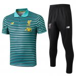 polo kit liverpool entrainement 2019-2020 rayure vert