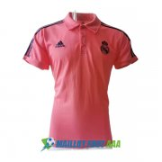 polo real madrid 2020-2021 bleu rose