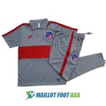 polo kit atletico madrid entrainement 2020-2021 gris rouge
