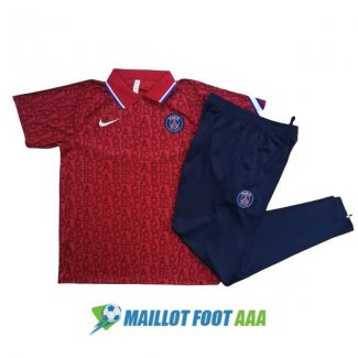 polo kit paris saint germain entrainement 2020-2021 rouge
