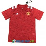 polo manchester united blanc rouge 2020-2021