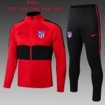 veste atletico madrid enfant 2019-2020 ensemble-complet rouge noir