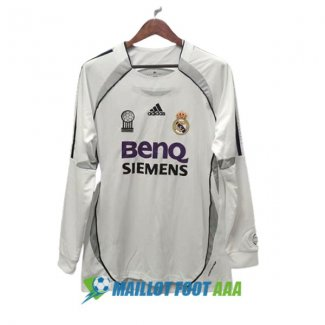 maillot real madrid retro 2006-2007 domicile