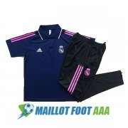 polo kit real madrid entrainement 2020-2021 bleu fonce