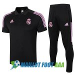 polo kit real madrid entrainement 2020-2021 noir