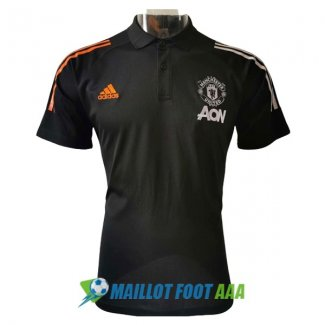 polo manchester united 2020-2021 noir