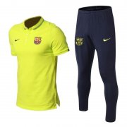 polo kit barcelone entrainement 2019-2020 vert jaune