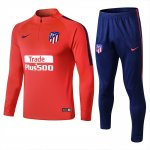 survetement atletico madrid 2018-2019 fermeture eclair orange rouge