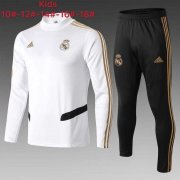 survetement real madrid enfant 2019-2020 col haut blanc