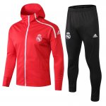 sweat a capuche real madrid 2018 2019 ensemble complet rouge