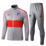 veste atletico madrid 2019-2020 ensemble-complet gris clair rouge