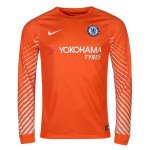 maillot chelsea gardien manche longue 2017-2018 orange