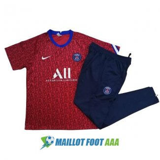 paris saint germain 2020-2021 entrainement kit rouge
