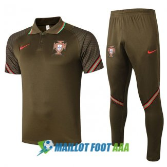 polo kit portugal entrainement 2020-2021 brown