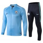 veste manchester city 2018 2019 ensemble complet bleu clair