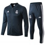 veste real madrid 2018-2019 ensemble-complet gris blanc