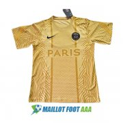 maillot paris saint germain paris entrainement 2020-2021 jaune