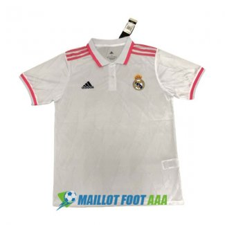 polo real madrid 2020-2021 rose blanc