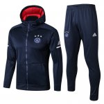sweat a capuche ajax 2017 2018 ensemble complet bleu marine