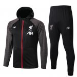 sweat a capuche liverpool 2019-2020 ensemble complet noir