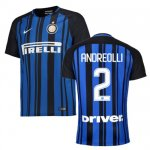 maillot inter milan andreolli 2017-2018 domicile