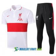 polo kit liverpool entrainement 2020-2021 blanc rouge