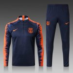 survetement Barcelone 2018-2019 fermeture eclair Bleu Orange