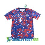 maillot bayern munich entrainement 2021-2022 camouflage bleu rouge