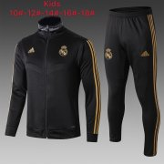 veste real madrid enfant 2019-2020 ensemble-complet noir
