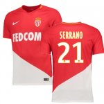 maillot as monaco serrano 2017-2018 domicile