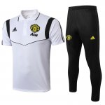 polo kit manchester united entrainement 2019-2020 blanc