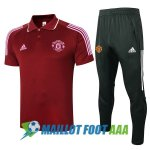 polo kit manchester united entrainement 2020-2021 rouge