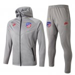 sweat-a-capuche atletico madrid 2019-2020 ensemble-complet gris clair