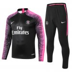 survetement paris saint germain 2018-2019 fermeture eclair noir