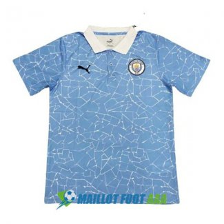 polo manchester city 2020-2021 bleu