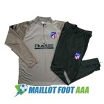 survetement foot atletico madrid 2020-2021 fermeture eclair brown