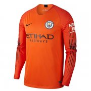 maillot manchester city gardien manche longue 2018-2019 orange