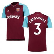 maillot west ham cresswell 2017-2018 domicile