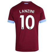 maillot west ham united lanzini 2018-2019 domicile