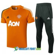 manchester united 2020-2021 entrainement kit orange