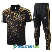 polo kit real madrid entrainement 2020-2021 noir or