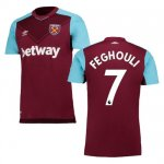 maillot west ham feghouli 2017-2018 domicile