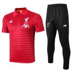 polo kit liverpool entrainement 2019-2020 rayure rouge