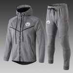 sweat a capuche manchester city 2018 2019 ensemble complet gris