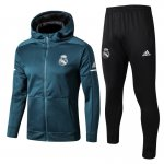 sweat a capuche real madrid 2017 2018 ensemble complet vert