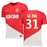maillot as monaco gil dias 2017-2018 domicile