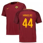 maillot as roma manolas 2017-2018 domicile