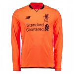 maillot liverpool manche longue gardien 2017-2018 orange