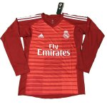 maillot real madrid gardien manche longue 2018-2019 rouge