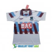 maillot west ham united retro 1991-1992 neutre